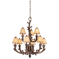 Aspen 9 Light 37 inch Pine Tree Chandelier Ceiling Light