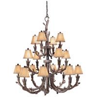 Vaxcel AS-CHS016PT Aspen 16 Light 46 inch Pine Tree Chandelier Ceiling Light