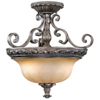 Bellagio 2 Light 18 inch Parisian Bronze Semi-Flush Mount Ceiling Light