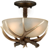 Yoho 2 Light 12 inch Black Walnut Semi-Flush Mount Ceiling Light