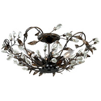 Jardin 4 Light 19 inch Architectural Bronze with Gold Accents Semi-Flush Mount Ceiling Light