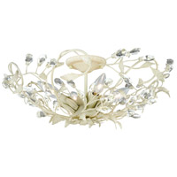 Jardin 4 Light 19 inch French Cream Semi-Flush Mount Ceiling Light