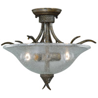Monterey 2 Light 17 inch Autumn Patina Semi-Flush Mount Ceiling Light