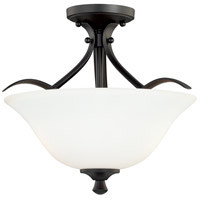 Cordoba 2 Light 16 inch Noble Bronze Semi-Flush Mount Ceiling Light