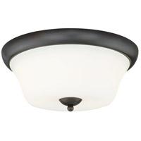 Vaxcel C0064 Poirot 2 Light 15 inch New Bronze Flush Mount Ceiling Light
