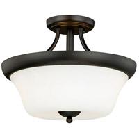 Vaxcel C0065 Poirot 2 Light 15 inch New Bronze Semi-Flush Mount Ceiling Light