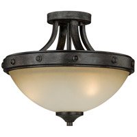 Halifax 2 Light 15 inch Black Walnut Semi-Flush Mount Ceiling Light