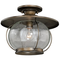 Jamestown 1 Light 14 inch Parisian Bronze Semi-Flush Mount Ceiling Light