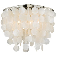 Vaxcel C0079 Elsa 3 Light 16 inch Satin Nickel Flush Mount Ceiling Light