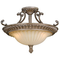 Avenant 3 Light 18 inch French Bronze Semi-Flush Mount Ceiling Light