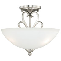 Hartford 2 Light 13 inch Satin Nickel Semi-Flush Mount Ceiling Light