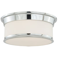 Vaxcel C0098 Carlisle 2 Light 14 inch Chrome Flush Mount Ceiling Light