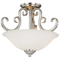 Belleville 2 Light 14 inch Satin Nickel Semi-Flush Mount Ceiling Light
