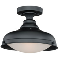 Keenan 1 Light 12 inch Oil Rubbed Bronze Semi-Flush Mount Ceiling Light