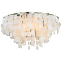 Vaxcel C0118 Elsa 5 Light 24 inch Satin Nickel Flush Mount Ceiling Light