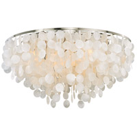 Vaxcel C0119 Elsa 6 Light 30 inch Satin Nickel Flush Mount Ceiling Light