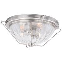 Vaxcel C0135 Bucktown 2 Light 17 inch Satin Nickel Flush Mount Ceiling Light