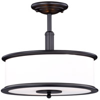 Vaxcel C0143 Carlisle 3 Light 14 inch Noble Bronze Semi-Flush Mount Ceiling Light