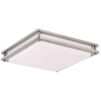 Vaxcel C0150 Horizon LED 16 inch Satin Nickel Flush Mount Ceiling Light