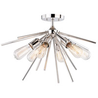 Estelle 6 Light 24 inch Polished Nickel Semi-Flush Mount Ceiling Light