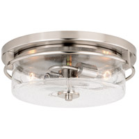 Addison 2 Light 15 inch Satin Nickel Flush Mount Ceiling Light