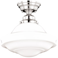 Vaxcel C0176 Huntley 1 Light 12 inch Satin Nickel Semi-Flush Mount Ceiling Light