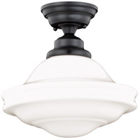 Vaxcel C0178 Huntley 1 Light 12 inch Oil Rubbed Bronze Semi-Flush Mount Ceiling Light