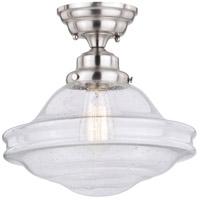 Vaxcel C0197 Huntley 1 Light 12 inch Satin Nickel Semi-Flush Mount Ceiling Light