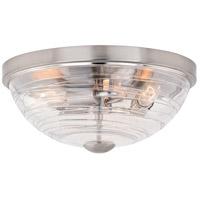 Vaxcel C0199 Isley 3 Light 15 inch Satin Nickel Flush Mount Ceiling Light