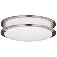 Vaxcel C0200 Horizon LED 12 inch Satin Nickel Flush Mount Ceiling Light
