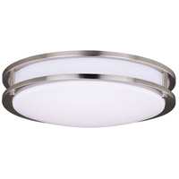 Horizon LED 16 inch Satin Nickel Flush Mount Ceiling Light