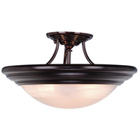Tertial 3 Light 17 inch Oil Burnished Bronze Semi-Flush Mount Ceiling Light