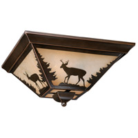 Vaxcel CC55414BBZ Bryce 3 Light 14 inch Burnished Bronze Flush Mount Ceiling Light