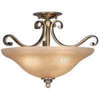 Vaxcel CF35417A/C Monrovia 3 Light 17 inch Antique Brass Semi-Flush Mount Ceiling Light