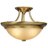 Vaxcel CF38215A North Avenue 3 Light 15 inch Antique Brass Semi-Flush Mount Ceiling Light