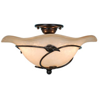 Vaxcel CF38815OL Vine 2 Light 15 inch Oil Shale Semi-Flush Mount Ceiling Light