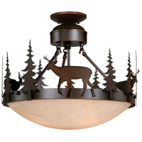 Vaxcel CF55418BBZ Bryce 3 Light 19 inch Burnished Bronze Semi-Flush Mount Ceiling Light