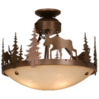 Vaxcel CF55618BBZ Yellowstone 3 Light 19 inch Burnished Bronze Semi-Flush Mount Ceiling Light
