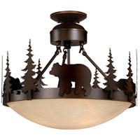 Vaxcel CF55718BBZ Bozeman 3 Light 19 inch Burnished Bronze Semi-Flush Mount Ceiling Light