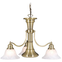 Standford 3 Light 26 inch Antique Brass Chandelier Ceiling Light