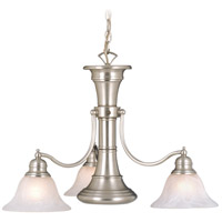Standford 3 Light 26 inch Brushed Nickel Chandelier Ceiling Light