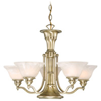 Standford 6 Light 25 inch Antique Brass Chandelier Ceiling Light