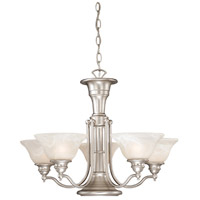 Standford 6 Light 25 inch Brushed Nickel Chandelier Ceiling Light