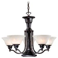 Standford 6 Light 25 inch Oil Burnished Bronze Chandelier Ceiling Light
