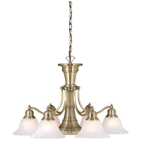 Vaxcel CH30307A Standford 7 Light 26 inch Antique Brass Chandelier Ceiling Light