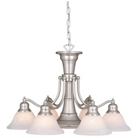 Vaxcel CH30307BN Standford 6 Light 26 inch Brushed Nickel Chandelier Ceiling Light