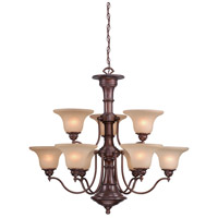Vaxcel CH30309RBZ Standford 9 Light 36 inch Royal Bronze Chandelier Ceiling Light