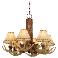 Vaxcel CH33006NS Lodge 6 Light 22 inch Noachian Stone Chandelier Ceiling Light