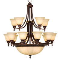 Brussels 20 Light 34 inch Aztec Bronze Chandelier Ceiling Light