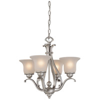 Vaxcel CH35404BN Monrovia 4 Light 19 inch Brushed Nickel Mini Chandelier Ceiling Light